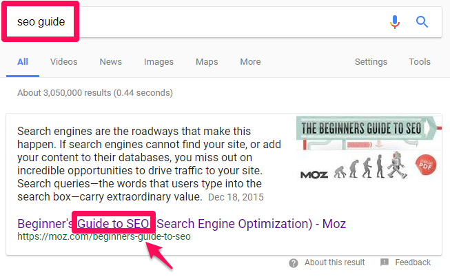 Seo example Web Marketing