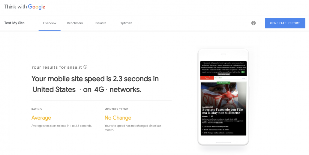 Speed Website Test Web Design