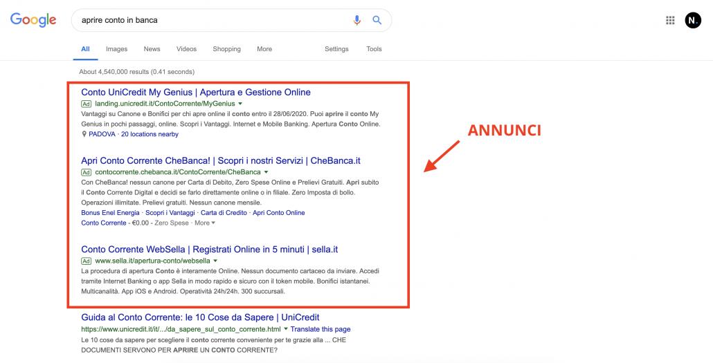 Web Marketing SEM example