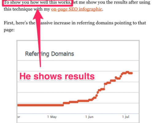 web marketing_results_Backlink