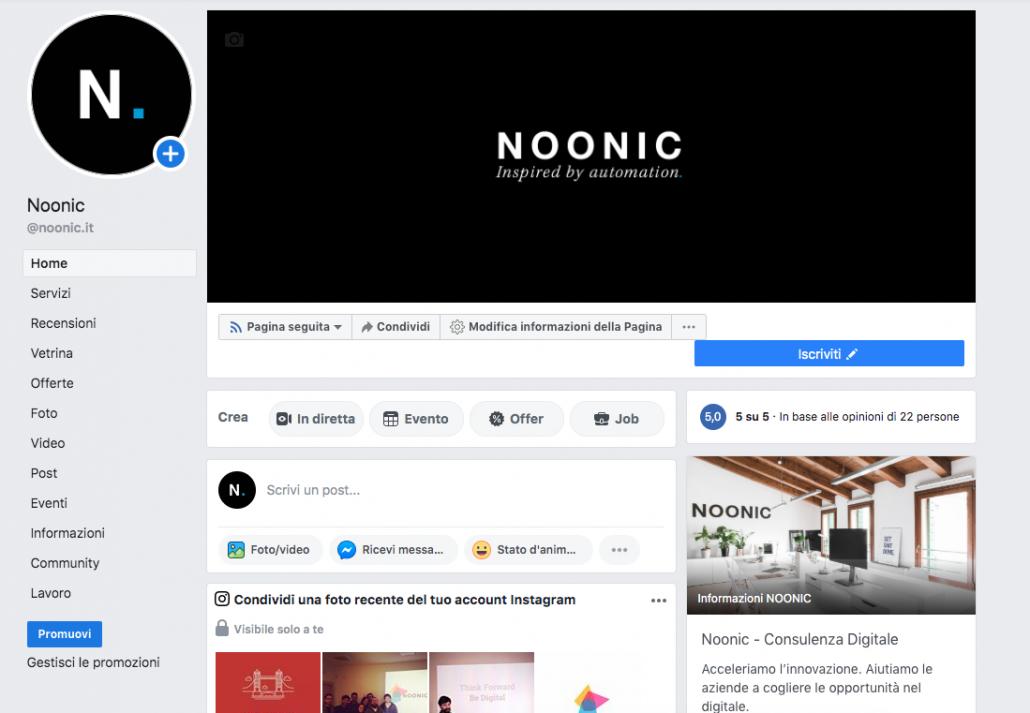 pagina facebook Noonic