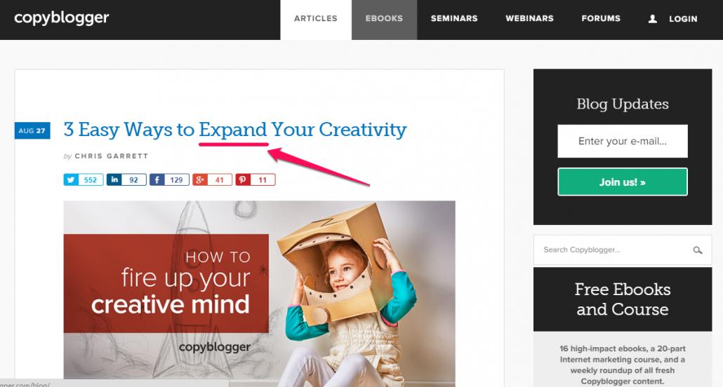 Esempio CopyBlogger