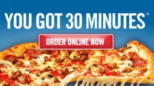 Esempio 30 minuti o pizza gratis