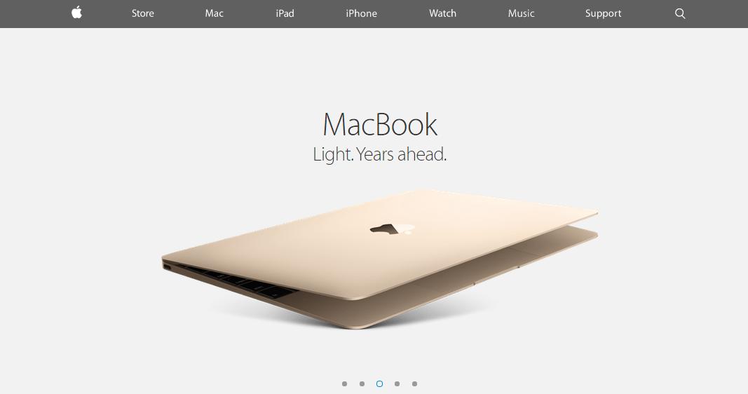 esempio del macbook