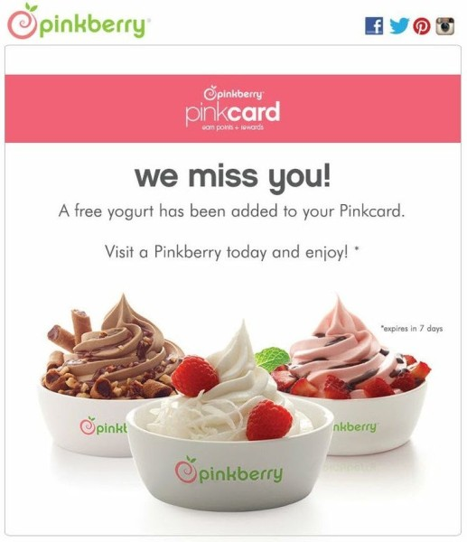esempio di retargeting brand ''pinkcard''