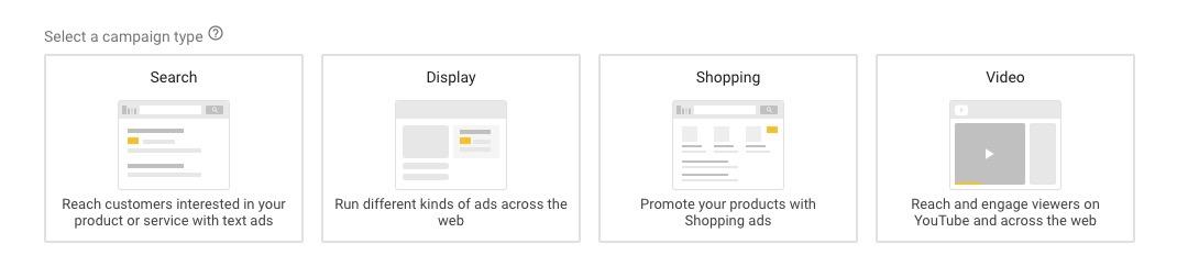 tipo di campagna google ads