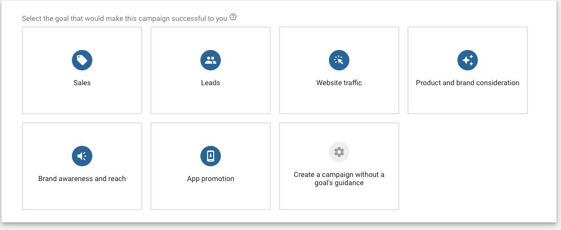 obiettivo campagna google ads