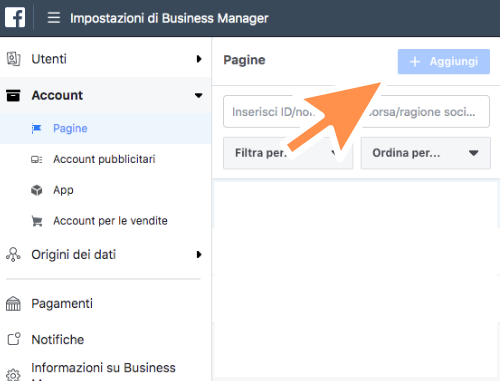 business manager inizio