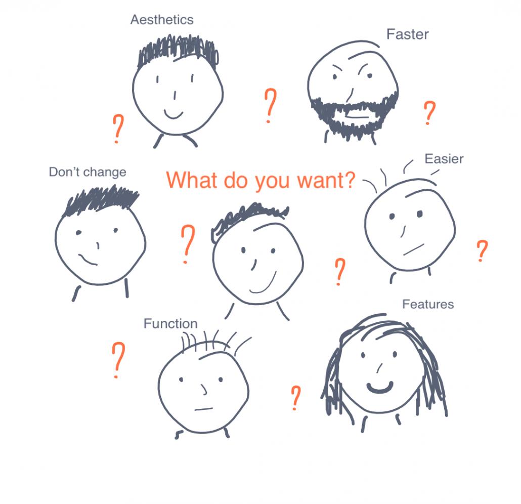 Cosa vogliono gli utenti