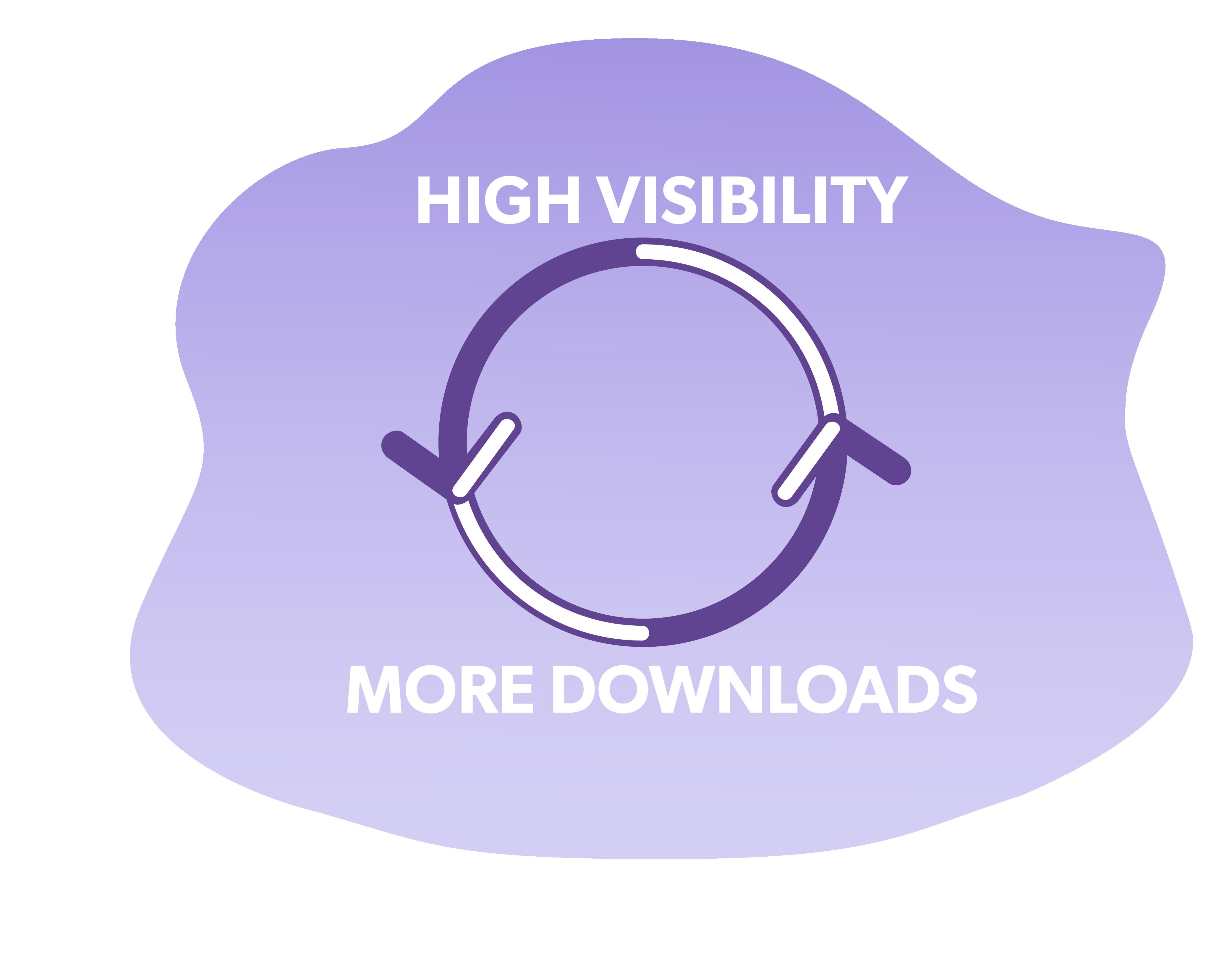 La visibilità porta a più download, il che porta a una maggiore visibilità