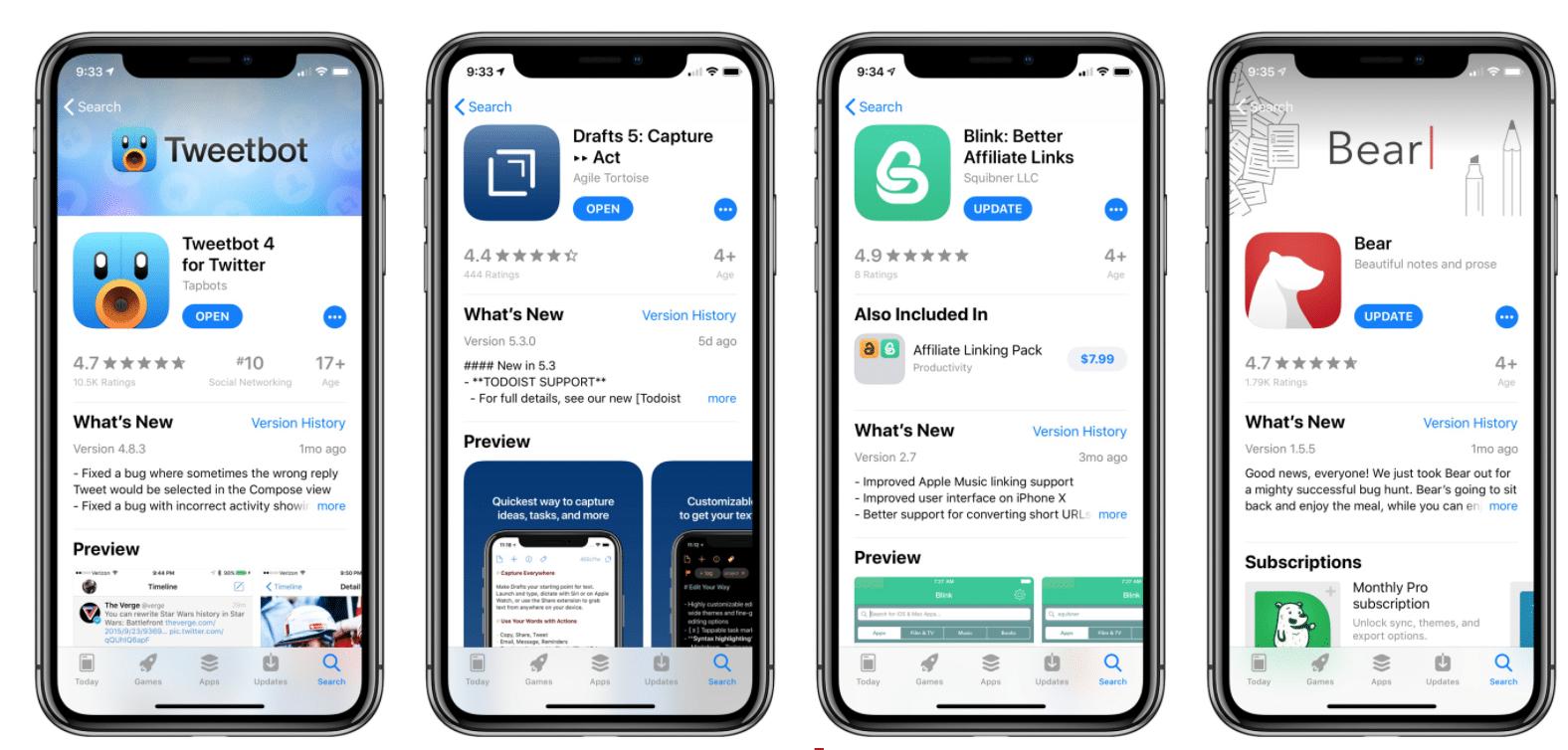 Inserire le parole chiave nel nome dell'app è una buona strategia di ottimizzazione dell'App Store. La tua app avrà maggiori probabilità di classificarsi per le parole chiave nel nome dell'app.