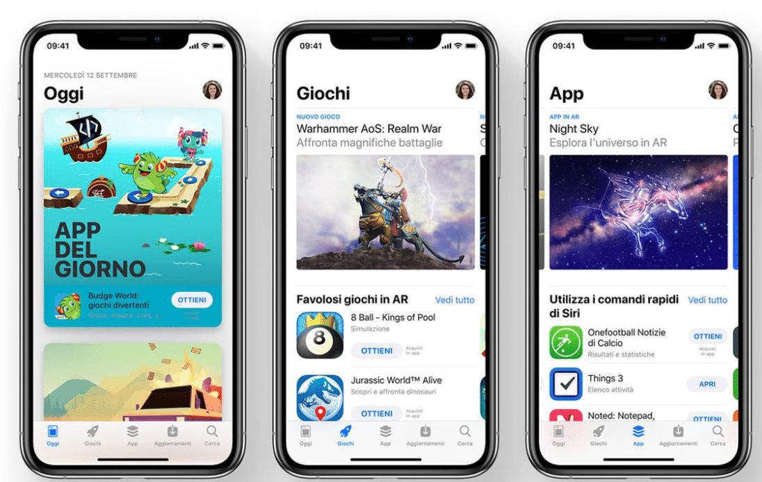 Luoghi nell'App Store in cui verrà visualizzata l'icona della tua app